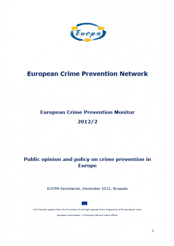 European Crime Prevention Monitor 2012-2