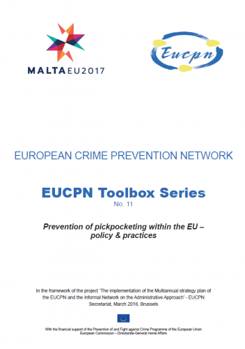 Toolbox 11 - Prevention of pickpocketing within the EU – policy & practices
